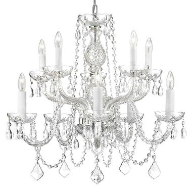 Harrison Lane Venetian-Style Crystal 10-Light Chandelier