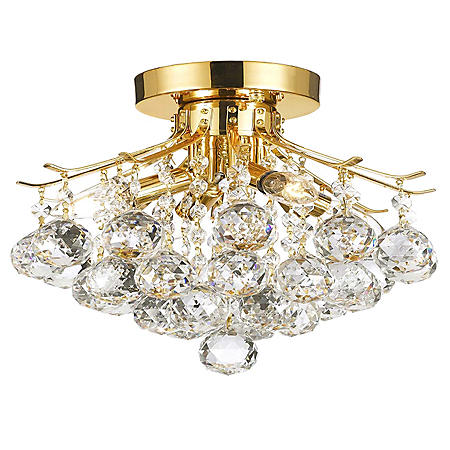 Harrison Lane Flush Mount Empire Crystal Chandelier (Gold)