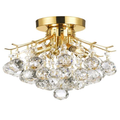 Harrison Lane Flush Mount Empire Crystal Chandelier (Gold)