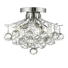 Harrison Lane Flush Mount Empire Crystal Chandelier (Silver)