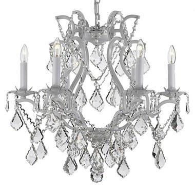 Harrison Lane Empress Crystal And Wrought Iron White