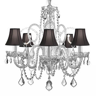 Harrison lane venetian style 5 light crystal chandelier with shades harrison lane venetian style 5 light crystal chandelier with shades aloadofball Images