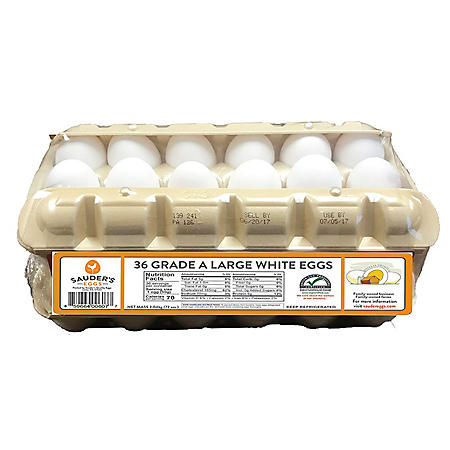 Sauder's Large Grade A White Eggs (36 ct.)