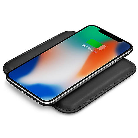 Eggtronic Genuine Leather Fast Charging Wireless Pad (Choose Color)