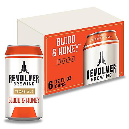 Revolver Blood & Honey American Ale (12 fl. oz. can, 6 pk.)