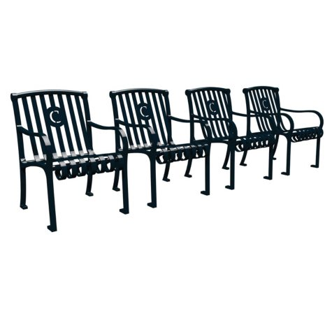 Leisure Craft Personalized Northgate Chair - Set of 4 (Various Colors)