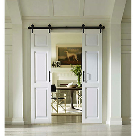 Four Seasons Outdoor Products Split Barn Door, Classic 6 Panel in White (Select Sizes)