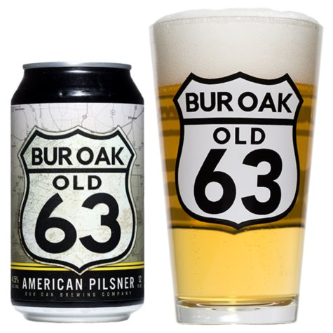 Bur Oak Old 63 American Pilsner (12 fl. oz. can, 12 pk.)