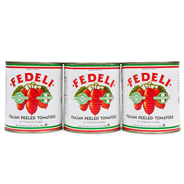 Fedeli Italian Whole Peeled Tomatoes (28 oz. ea., 3 pk.)
