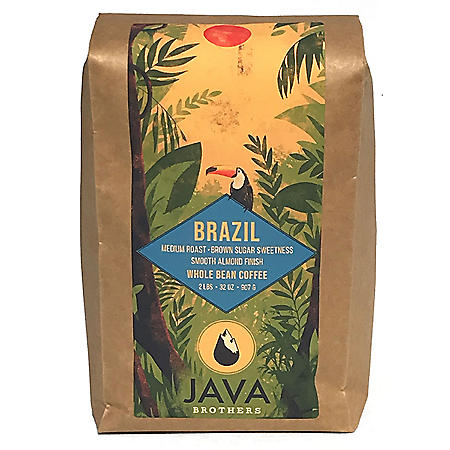 Java Brothers 100% Arabica Brazil Coffee, Whole Bean (2 lb.)