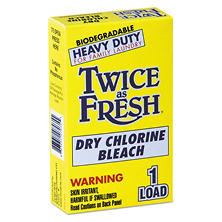 Twice as Fresh® Heavy-Duty Coin-Vend Powdered Chlorine Bleach, 1 load (100 ct.)