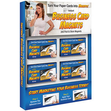 Instant Business Card Magnets 200 Pk