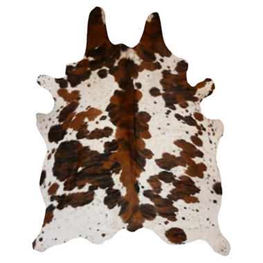 Decohides Real Cowhide Rug, Spine Tricolor