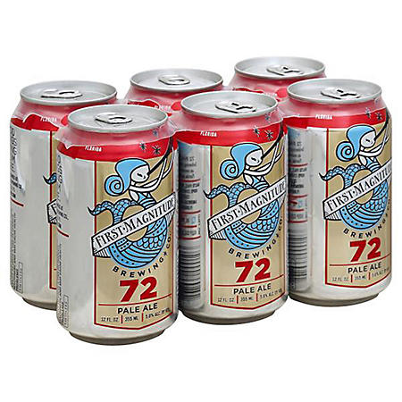First Magnitude 72 Pale Ale (12 fl. oz. can, 6 pk.)