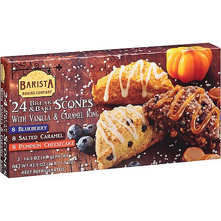Barista Baking Company Break & Bake Scones Variety Pack (43.5 oz., 24 ct.)