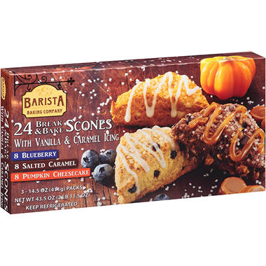 Barista Baking Company Break & Bake Scones Variety Pack (43.5 oz., 24 ct.)