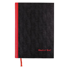Black n' Red Casebound Notebook, Ruled, 8-1/4 x 11-3/4, White, 96 Sheets/Pad