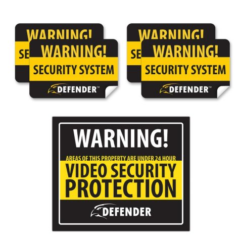Defender Security Indoor Warning Sign