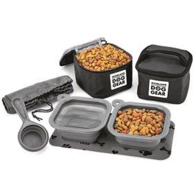 Overland Dog Gear Dine Away 7-Piece Travel Set Bag (Choose Your Size)