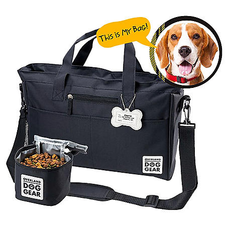 Overland Dog Gear Day Away Tote with Lined Food Carrier (Choose Your Color)