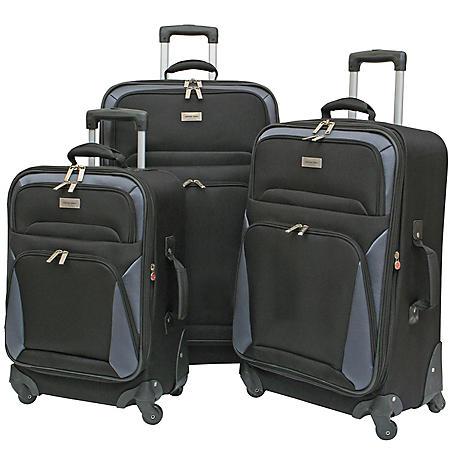 Geoffrey Beene Vertical Spinner Wheel Luggage Set - 3 pc.
