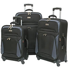 Geoffrey Beene 3-Piece Vertical Spinner Wheel Luggage Set