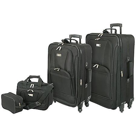 Geoffrey Beene Spinner Wheel 4-Piece Luggage Set