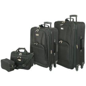 Geoffrey Beene Spinner Wheel 4 Piece Luggage Set