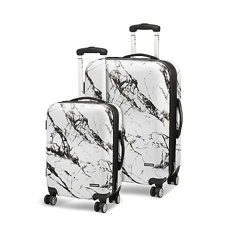 Geoffrey Beene 2 Piece Marble Hardside Luggage Set