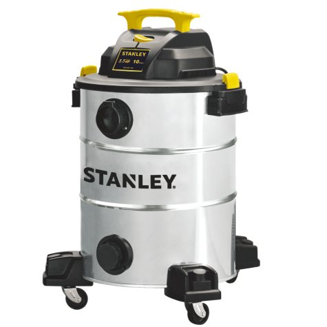 Stanley 10 Gallon, 5.5 HP Stainless Steel Wet/Dry Vacuum