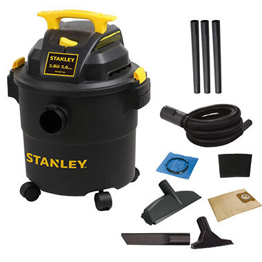 Stanley 5 Gallon Poly Wet Dry Vacuum 3 Hp Sam S Club