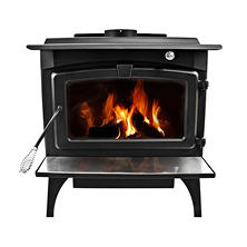 Pleasant Hearth 1,800 Sq Ft Wood Stove 65,000 BTU's with Blower
