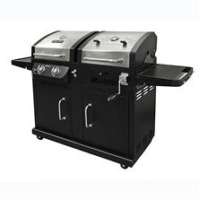Dyna-Glo 24,000 BTU 2 Burner Dual Fuel LP Gas and Charcoal Grill
