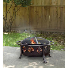 "Pleasant Hearth Sunderland 12"" Deep Bowl Fire Pit"