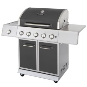 Dyna-Glo 62,000 5-Burner Propane Gas Grill with Side Burner