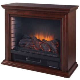 Pleasant Hearth Sheridan Infrared Mobile Fireplace, Cherry