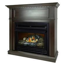 "Pleasant Hearth VFF-PH26D-T 27,500 BTU 42"" Intermediate Tobacco Vent Free Fireplace System"
