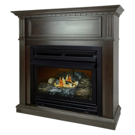 "Pleasant Hearth VFF-PH26D-T 27,500 BTU 42"" Intermediate Tobacco Vent Free Fireplace System"