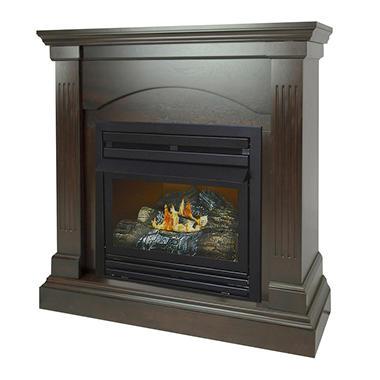 "000 BTU 36"" Compact Tobacco Vent-Free Fireplace System - Sam"