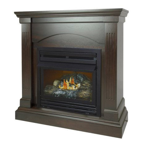 """Pleasant Hearth VFF-PHCPD-2T 20,000 BTU 36"""" Compact Tobacco Vent-Free Fireplace System"""
