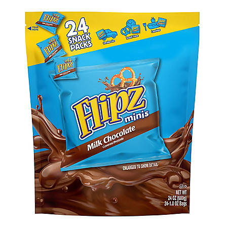 Flipz Minis Chocolate Pretzels (1 oz., 24 pk.)