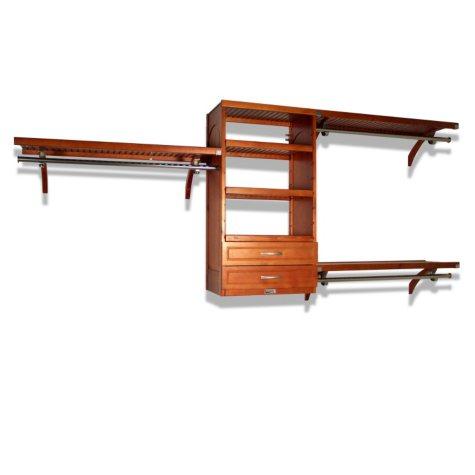 "16"" Depth Woodcrest Closet System - Caramel"