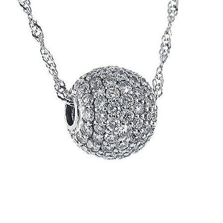 1 ct. Micro-Pave Diamond Ball Pendant (H-I, I1)