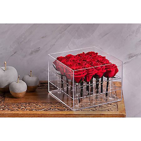 Everlasting Rose Box, Red