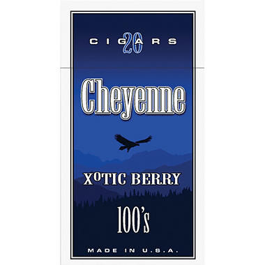 Cheyenne Cigars 100's, Xotic Berry (20 ct., 10 pk.)