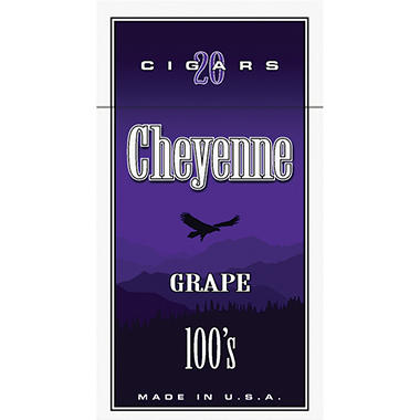 Cheyenne Cigars 100's, Grape (20 ct., 10 pk.)