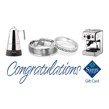 Sam's Club Congratulations Wedding Gift Card