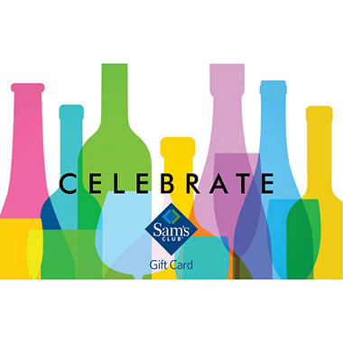 Sam's Club Celebrate Bottles Gift Card