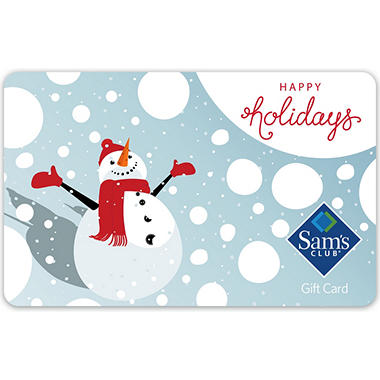 sams club holiday gift cards various amounts