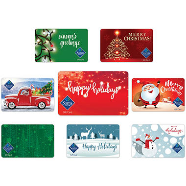 Sam's Club Holiday Gift Cards - Various Amounts